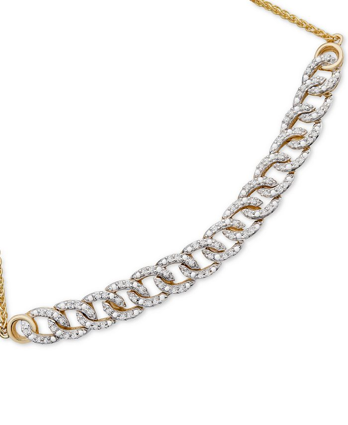 Wrapped in Love - Diamond Chain Link Bolo Bracelet (1/4 ct. t.w.) in 10k Gold