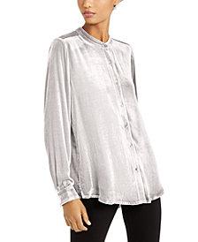 Eileen Fisher Mandarin-Collar Shirt