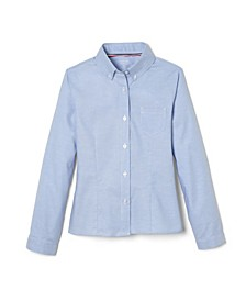 Plus Size Girls Long Sleeve Oxford Shirt