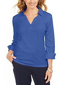 Point-Collar 3/4-Sleeve Top, Created For Macy's