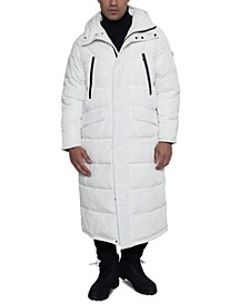 Men's Full-Length Hooded Puffer Jacket