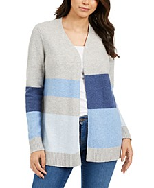Petite Striped Cardigan, Created For Macy's