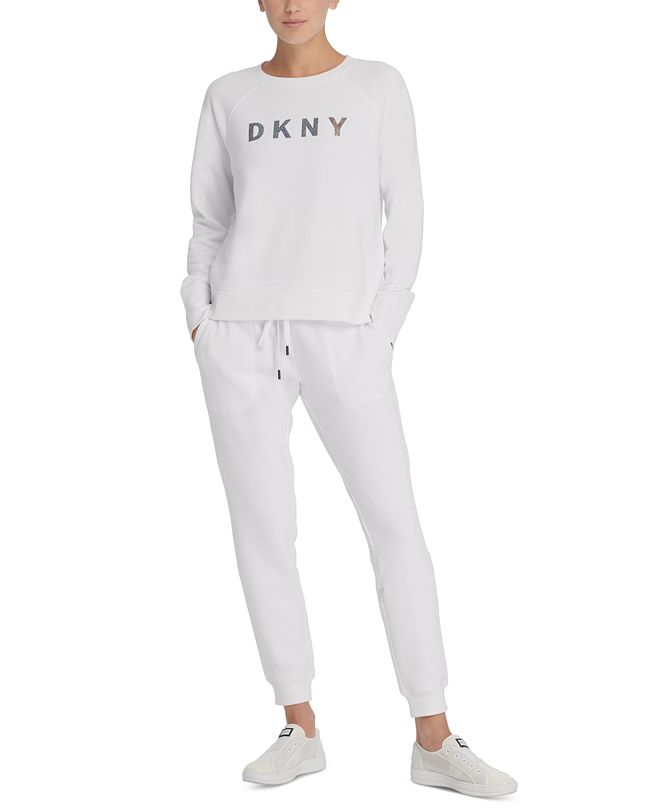 DKNY Sport Sparkle-Logo Sweatshirt
