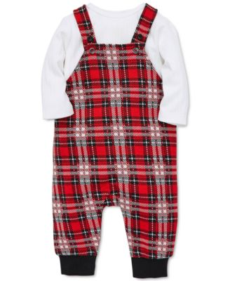 Red Tartan Plaid Check Print Suspender Shorts Jumper Shortall 106 mv Overalls
