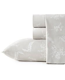 Foliage Cotton Percale King Sheet Set