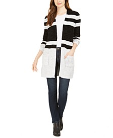 Striped Chenille Open-Front Cardigan, Created for Macy's