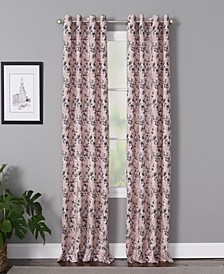 "Vanessa 50"" x 95"" Floral Curtain Panel"