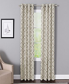 "Bennett 50"" x 84"" Geometric Print Curtain Panel"