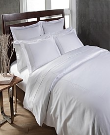 Home 300 Thread Count Embroidered Circle Link Queen Duvet Set