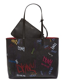 Brayden Graffiti Logo Tote, Created for Macy's