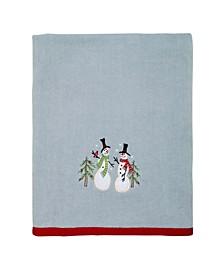 Tall Snowman Bath Towel
