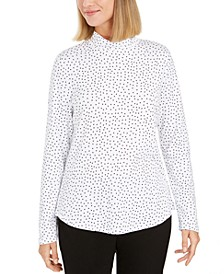 Pima Cotton Mock-Neck Top, Created For Macy's