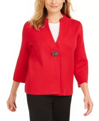Holiday Party Brooch Cardigan, Created for Macy's