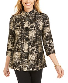 Metallic-Print Jacket, Created for Macy's