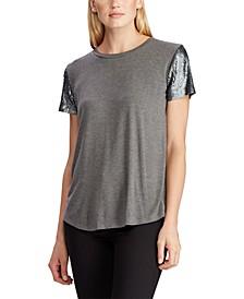 Contast-Sleeve T-Shirt