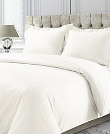 750 Thread Count Sateen Oversized Solid Queen Duvet Cover Set