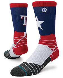Texas Rangers Diamond Pro Authentic Crew Socks