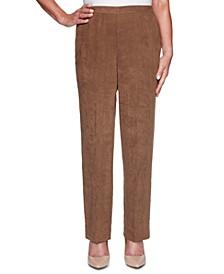 Petite Walnut Grove Faux-Suede Pants