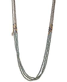 "lonna & lilly Gold-Tone Pavé Evil Eye Charm Beaded 36"" Triple-Strand Necklace"