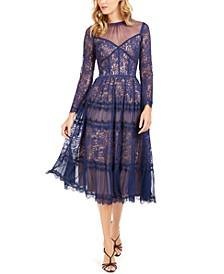 Illusion Lace Midi Dress