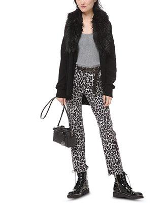 Faux Fur Cardigan, Regular & Petite Sizes by General