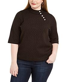 Plus Size Mock-Neck Sweater