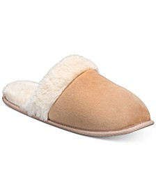 Women's Slippers With Faux-Fur Trim, Created For Macy's