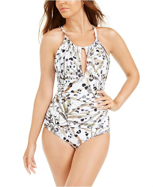 Kenneth Cole Jungle Fever Printed One-Piece Swimsuit