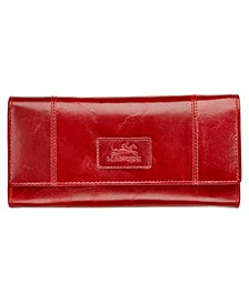 Casablanca Collection RFID Secure Ladies Trifold Wing Wallet