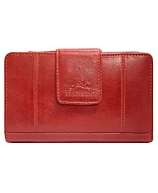Casablanca Collection RFID Secure Ladies Medium Clutch Wallet