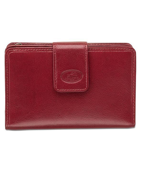 Mancini Equestrian-2 Collection RFID Secure Medium Clutch Wallet