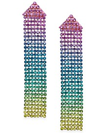 Multi-Tone Rhinestone Mesh Linear Earrings, Created For Macy's