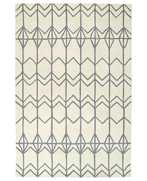 "Kaleen Origami ORG05-01 Ivory 3'6"" x 5'3"" Area Rug"