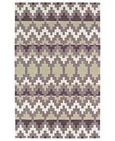 """Lakota LKT03-95 Purple 5' x 7'9"""" Area Rug"""