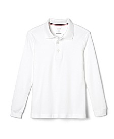 Husky Boys Long Sleeve Interlock Polo Shirt