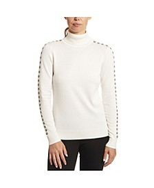 Solid Turtleneck with Sleeve Detail