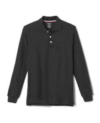Teal Short Sleeve Pique Polo Shirt Standard /& Husky Standard /& Husky French Toast Boys Husky Short Sleeve Pique Polo Shirt