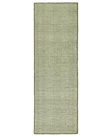 Ziggy ZIG01-23 Olive 2' x 6' Runner Rug
