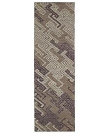 "Ceneri CEN04-95 Purple 2'6"" x 8' Runner Rug"