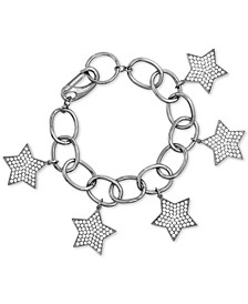 Rhinestone Star Cable Link Bracelet