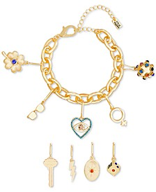 Crystal Interchangeable Charm Bracelet Gift Set