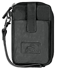 Mancini Casablanca Collection RFID Secure Cell Phone Wallet