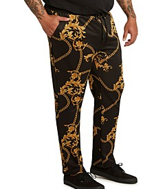 MVP Collections Men's Big & Tall Chain Print Jogger