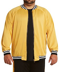 MVP Collections Men's Big & Tall Stripe Bomber Jacket