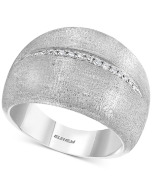 Effy Diamond Satin Finish Statement Ring (1/20 ct. t.w.) in Sterling Silver