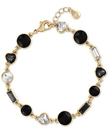 Gold-Tone Crystal & Stone Flex Bracelet
