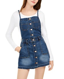 Dollhouse Juniors' Denim Overall Dress