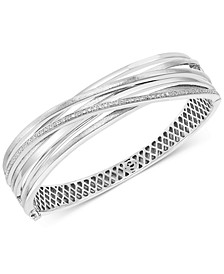 EFFY® Diamond Multi-Row Crossover Bangle Bracelet (1/5 ct. t.w.) in Sterling Silver