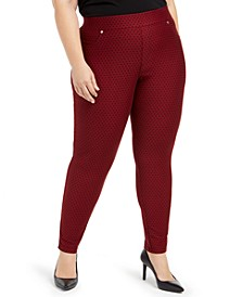 Plus Size Mini-Dot Leggings