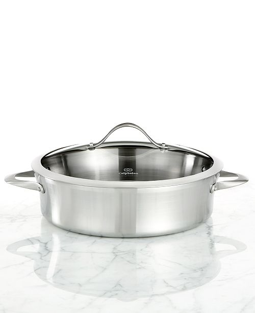 Calphalon Contemporary Stainless Steel 5 Qt. Covered Sauteuse